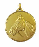 Diamond Edged Equestrian Horse Head Gold Medal
