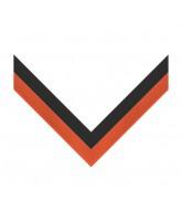 Black & Orange Stripe Clip on Medal Ribbon