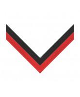 Black & Red Stripe Clip on Medal Ribbon
