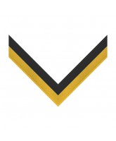 Black & Yellow Stripe Clip on Medal Ribbon