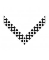 Clip on Medal Ribbon Chequered Flag