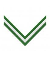 Green, White & Green 3 Stripe Clip on Medal Ribbon