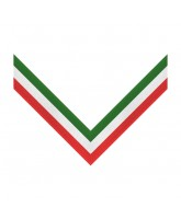 Green, White & Red 3 Stripe Clip on Medal Ribbon