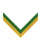 Green & Yellow Stripe Clip on Medal Ribbon