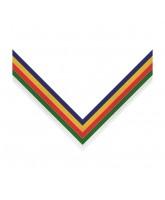 Multi Colour Stripe Clip on Medal Ribbon