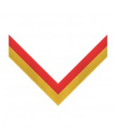 Red & Yellow Stripe Clip on Medal Ribbon