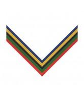 Olympic Multi Stripe Clip on Medal Ribbon
