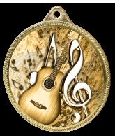 Acoustic Guitar Classic Texture 3D Print Gold Medal