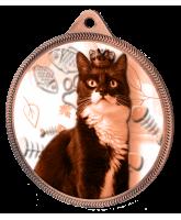 Cat Show Classic Texture 3D Print Bronze Medal