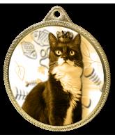 Cat Show Classic Texture 3D Print Gold Medal