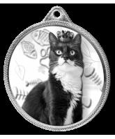 Cat Show Classic Texture 3D Print Silver Medal