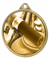 Clay Pigeon Shooting Classic Texture 3D Print Gold Medal