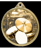 Drums Classic Texture 3D Print Gold Medal