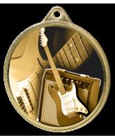 Electric Guitar Classic Texture 3D Print Gold Medal