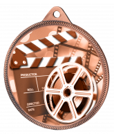 Film Classic Texture 3D Print Bronze Medal