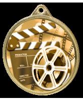 Film Classic Texture 3D Print Gold Medal