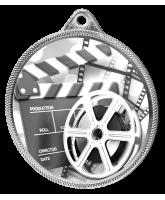 Film Classic Texture 3D Print Silver Medal