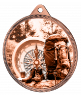 Hiking and Mountaineering Classic Texture 3D Print Bronze Medal
