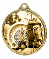Hiking and Mountaineering Classic Texture 3D Print Gold Medal