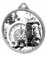 Hiking and Mountaineering Classic Texture 3D Print Silver Medal
