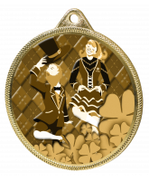 Irish Dance Classic Texture 3D Print Gold Medal