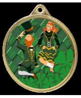 Irish Dance Colour Texture 3D Print Gold Medal