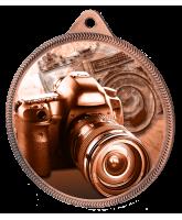 Photography Classic Texture 3D Print Bronze Medal