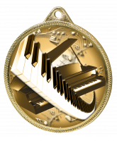 Piano and Keyboard Classic Texture 3D Print Gold Medal
