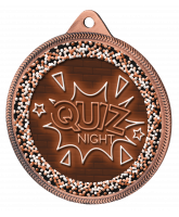 Quiz Night Classic Texture 3D Print Bronze Medal