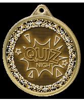 Quiz Night Classic Texture 3D Print Gold Medal