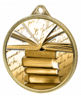 Reading and Literature Classic Texture 3D Print Gold Medal