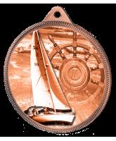 Sailing Classic Texture 3D Print Bronze Medal
