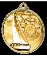 Sailing Classic Texture 3D Print Gold Medal