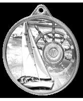 Sailing Classic Texture 3D Print Silver Medal