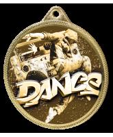 Street Dance Classic Texture 3D Print Gold Medal