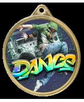 Street Dance Colour Texture 3D Print Gold Medal