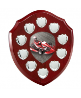 Anglia Go Kart Rosewood Wooden 10 Year Annual Shield