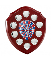 Anglia Modern Darts Rosewood Wooden 10 Year Annual Shield