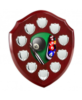 Anglia Pool Rosewood Wooden 10 Year Annual Shield