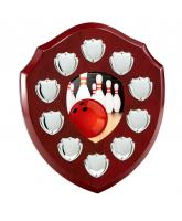 Anglia Tenpin Bowling Rosewood Wooden 10 Year Annual Shield