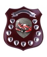 Mercia Go Kart Mahogany Wooden 11 Year Annual Shield