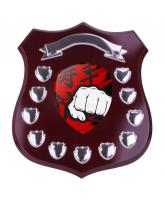 Mercia Martial Arts Mahogany Wooden 11 Year Annual Shield