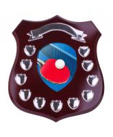 Mercia Table Tennis Mahogany Wooden 11 Year Annual Shield