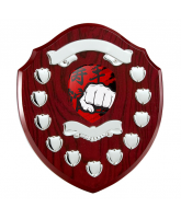Northumbria Martial Arts Rosewood Wooden 11 Year Annual Shield