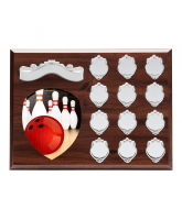 Wessex Tenpin Bowling Wooden 12 Year Annual Shield