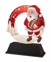 Santa American Football Christmas Trophy