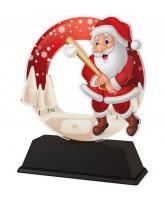 Santa Baseball Christmas Trophy