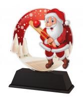 Santa Cricket Christmas Trophy
