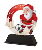 Santa Football Christmas Trophy