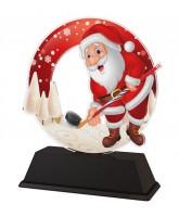 Santa Ice Hockey Christmas Trophy